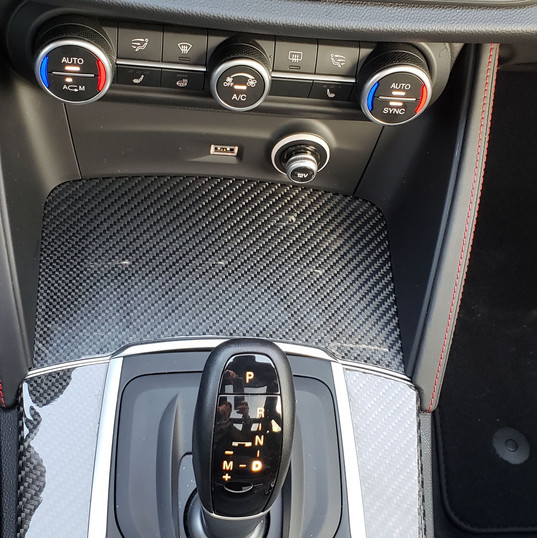 The center console of the 2019 Alfa Romeo Stelvio QV