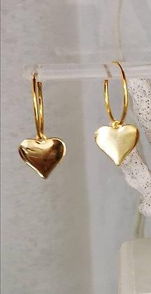 עגילי לב אוהב
