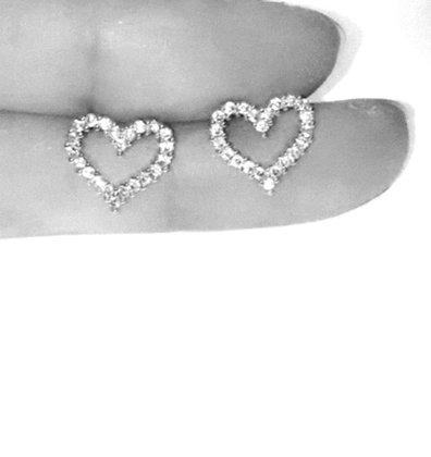 2 עגילי לב אוהב