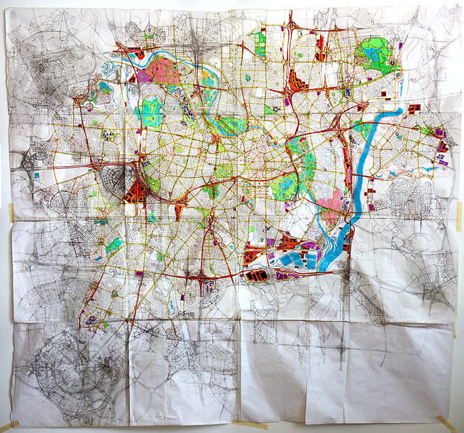 Hand drawn map by Yuval Fogleson 1998