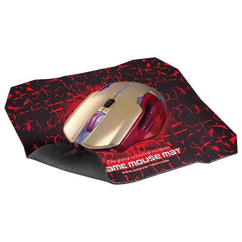 Mouse M416+Pad G1 Dorado