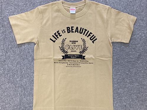 OLIVE T-shirt サンド size L