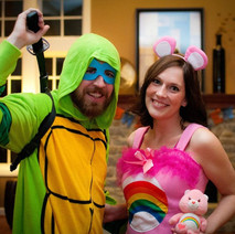 This is a throwback before kids. We LOOOVE Halloween. I will be sure to post more Halloween photos at some point.
