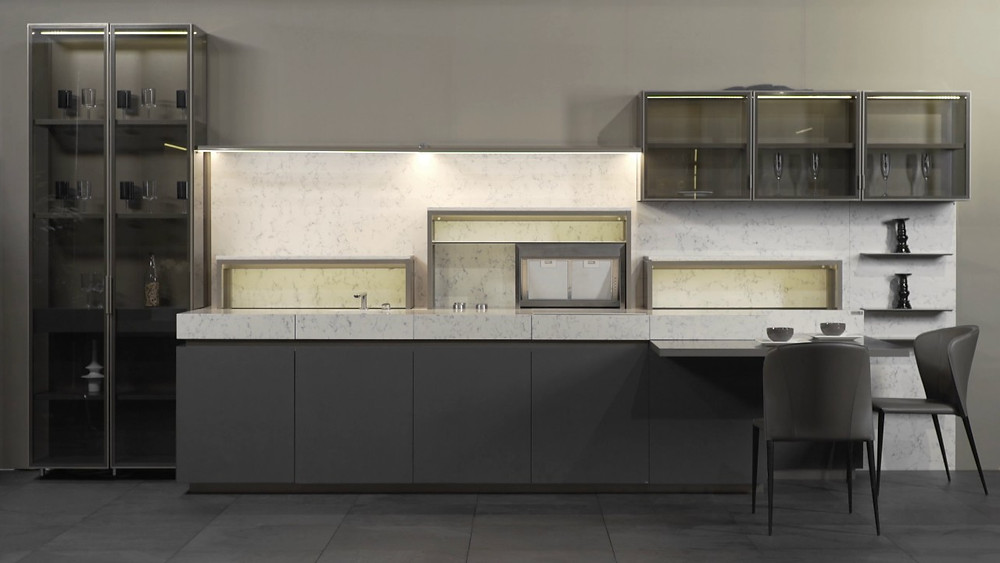 фасады кухни из бетона
