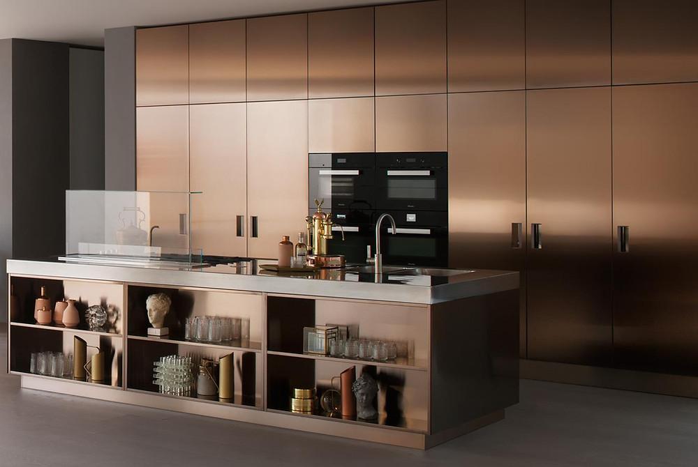 стальные фасады кухни