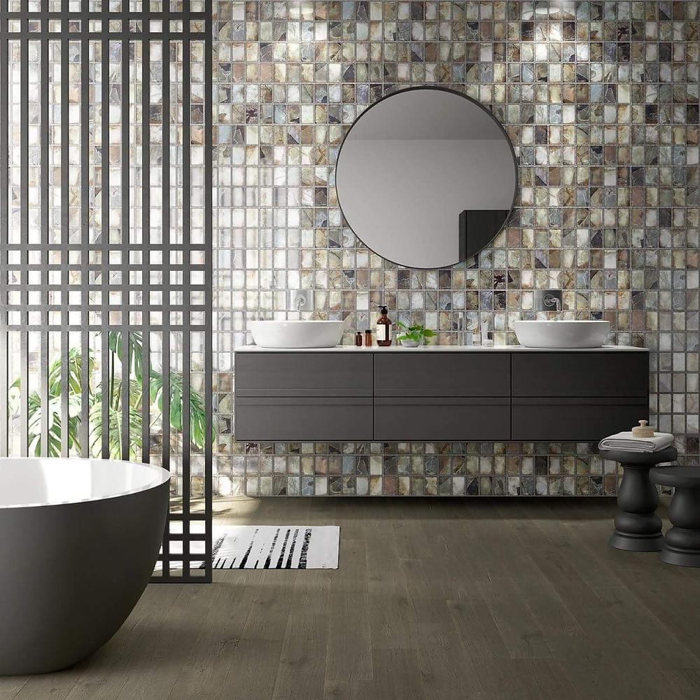 необычная плитка в ванную