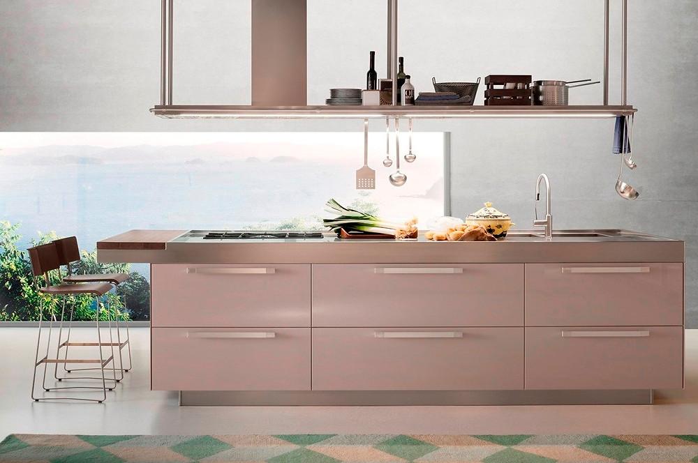 сталь в дизайне кухни
