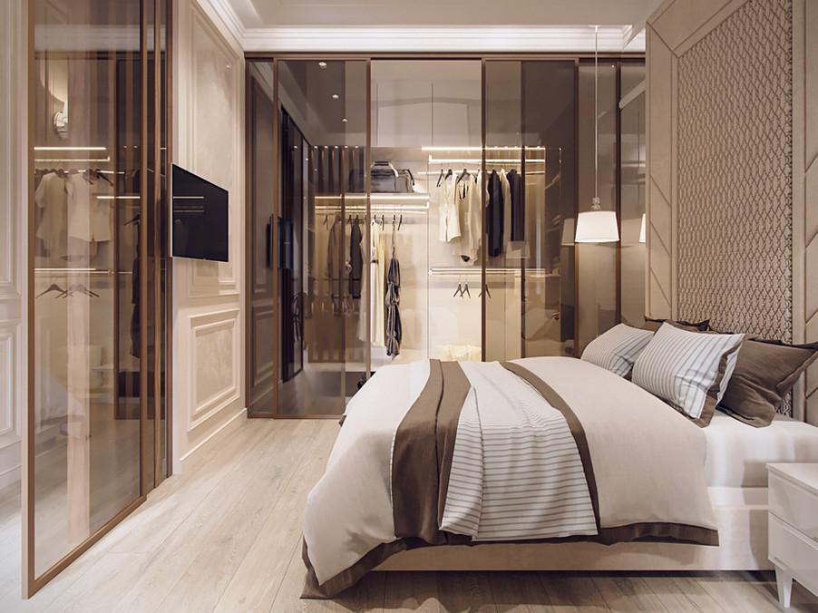 Дизайн спальни и гардеробной