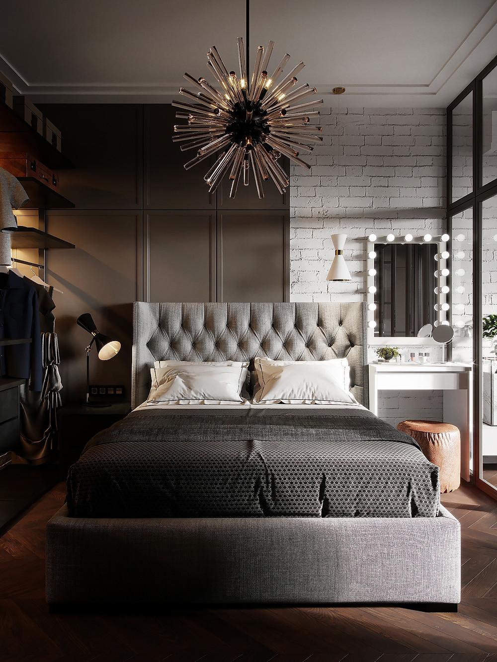 интерьер спальни