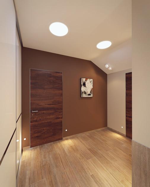 Строгий дизайн коридора