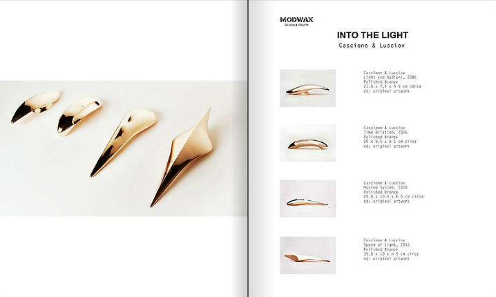 'INTO THE LIGHT' bronze sculptures by Cascione & Lusciov feature in ACS Magazine