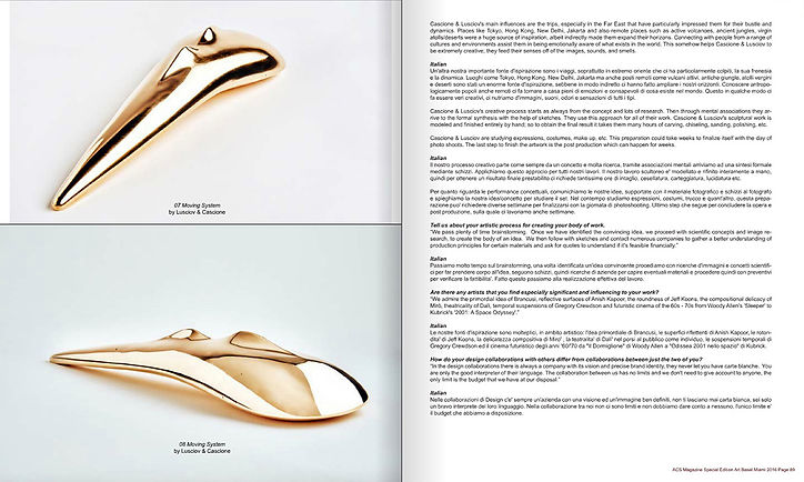 'Moving System' bronze sculpture by Cascione & Lusciov feature in ACS Magazine