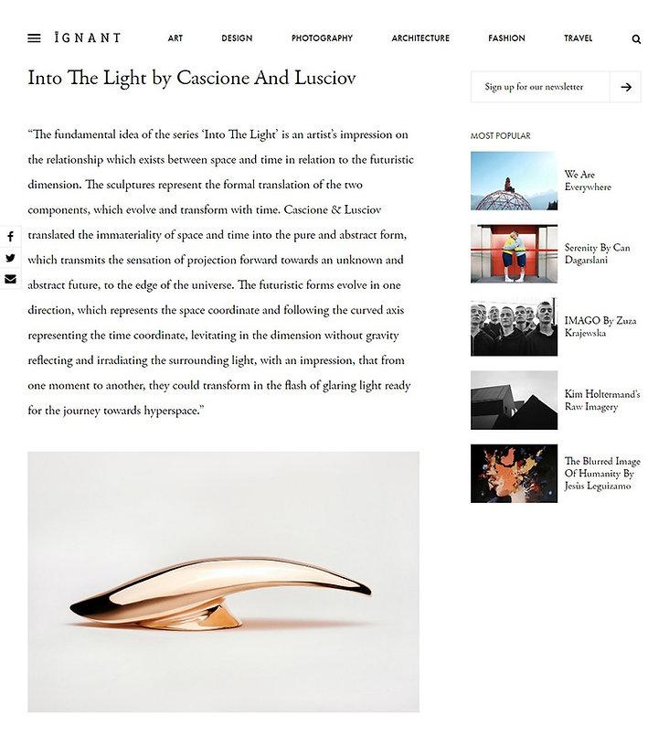 Into the Light by Cascione & Lusciov feature on IGNANT Magazine