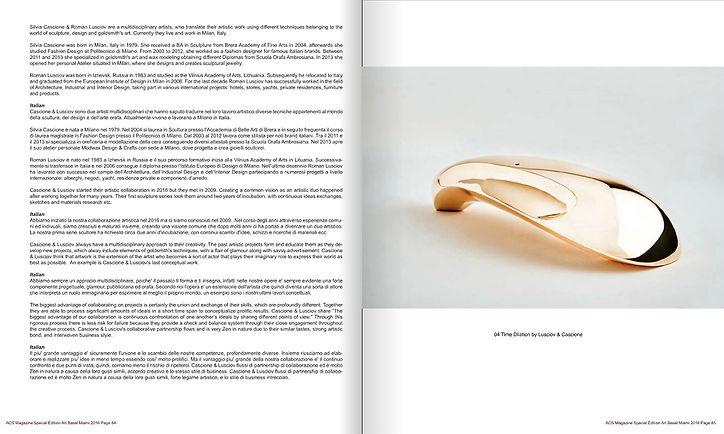 'Time Dilation' bronze sculpture by Cascione & Lusciov feature in ACS Magazine