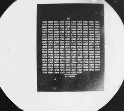 microdot shown highly magnified