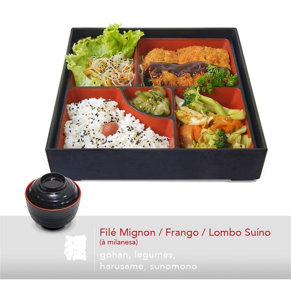 Filé Mignon / Frango / Lombo Suíno (à milanesa)
