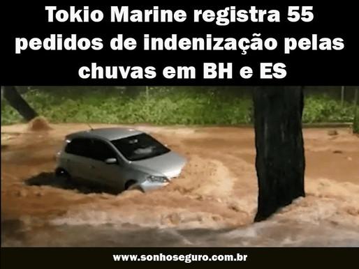 Tokio Marine registra 55 pedidos de indenização pelas chuvas em BH e ES