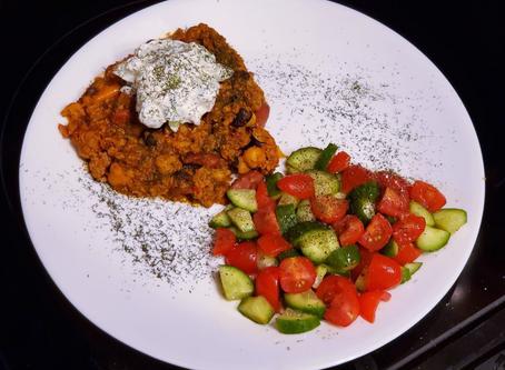 OPERA EATS: Curry Thyme Chili with Greek Yogurt Dill Sauce