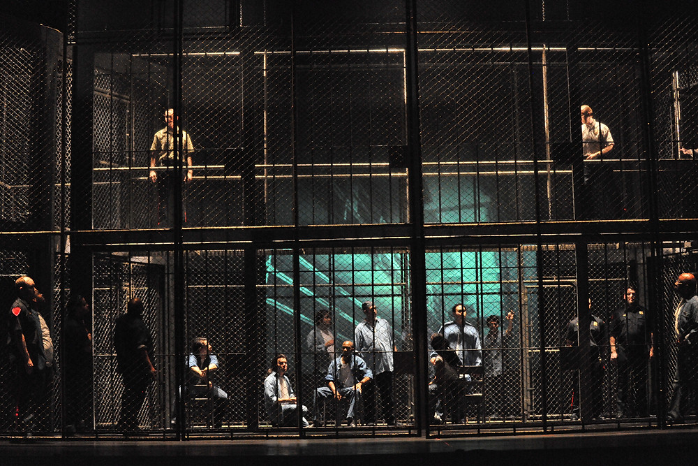 The prison of Fort Worth Opera's 'Dead Man Walking'; photo by Ellen Appel