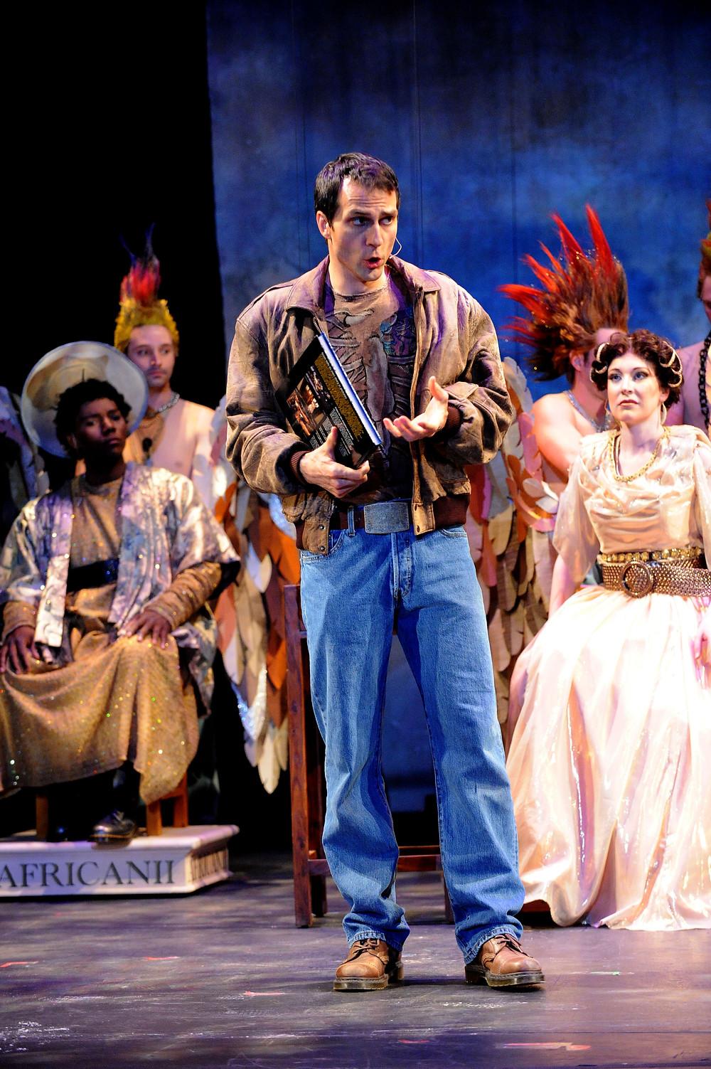 Daniel Billings, David Adam Moore, Ava Pine and chorus. Photo by Ellen Appel