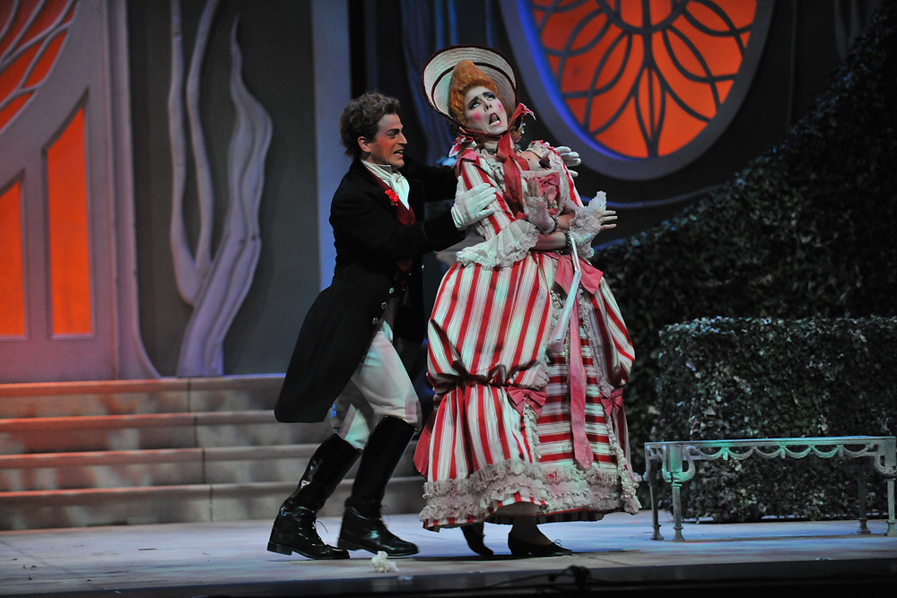 Prince Ramiro (Michele Angelini) and Tisbe (Alissa Anderson); photo by Ellen Appel.