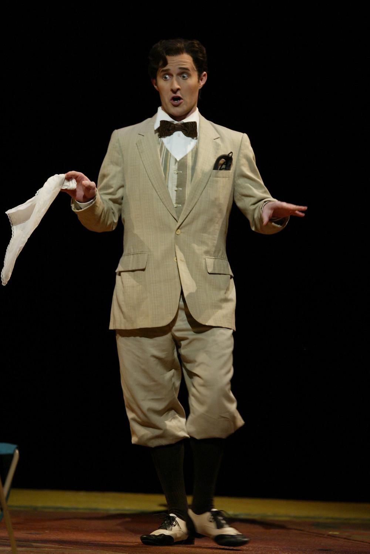 """Taddeo (Corey Trahan) in Fort Worth Opera's """"Italian Girl In Algiers"""" 2004; photo by Ellen Appel."""