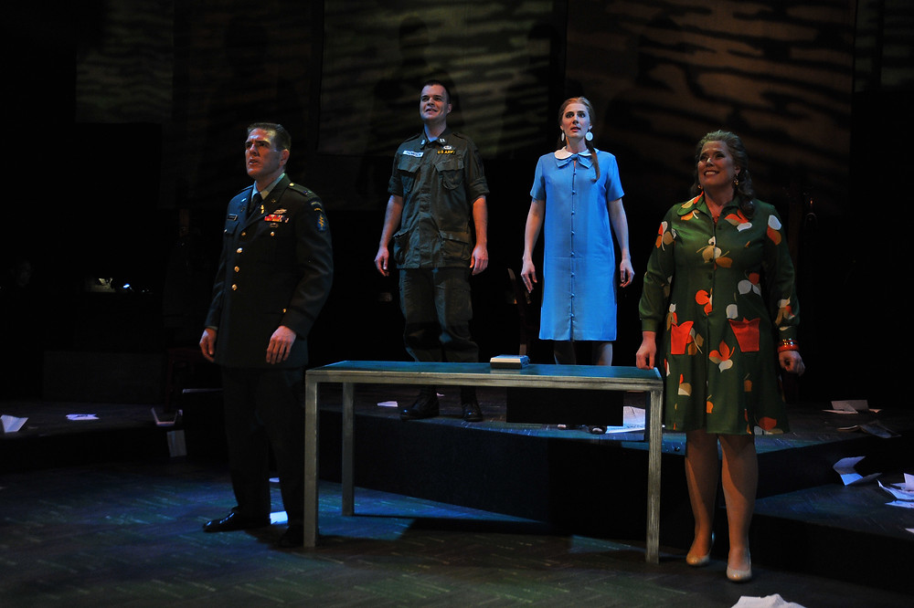 The full cast of 'Glory Denied'; photo by Ellen Appel.