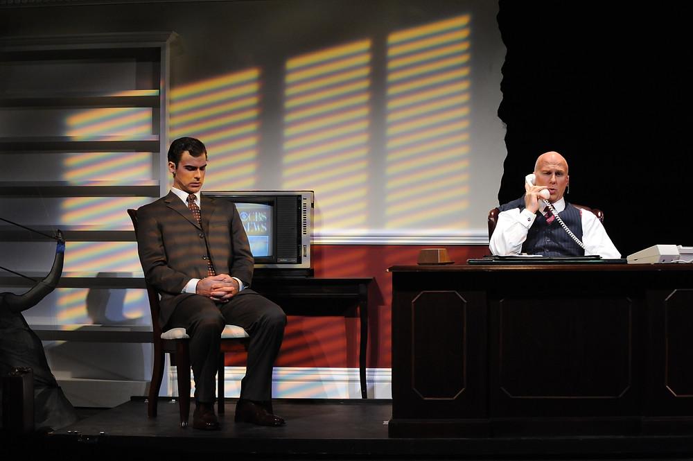 Craig Verm (Joseph Pitt) and Kelly Anderson (Roy Cohn). Photo by Ellen Appel