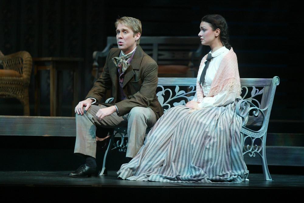 Daniel Belcher (John Brooke) and Sandra Piques Eddy (Meg March). Photo by Ellen Appel.