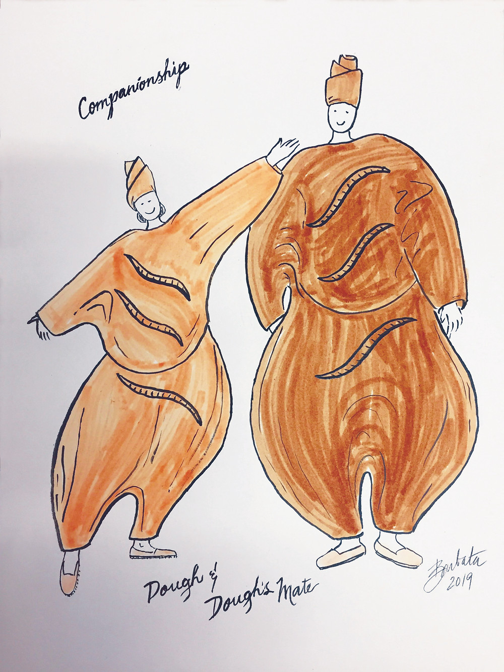 Concept Drawings of Costumes from 'Companionship,' Laura Anderson Barbata