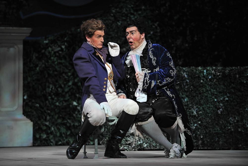 Prince Ramiro (Michele Angelini) and Don Magnifico (Rod Nelman); photo by Ellen Appel.