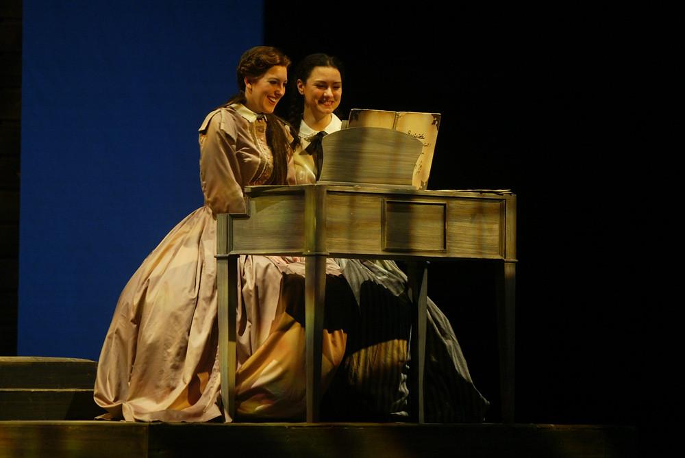 Tawny Seward (Beth March) and Sandra Piques Eddy (Meg March). Photo by Ellen Appel.