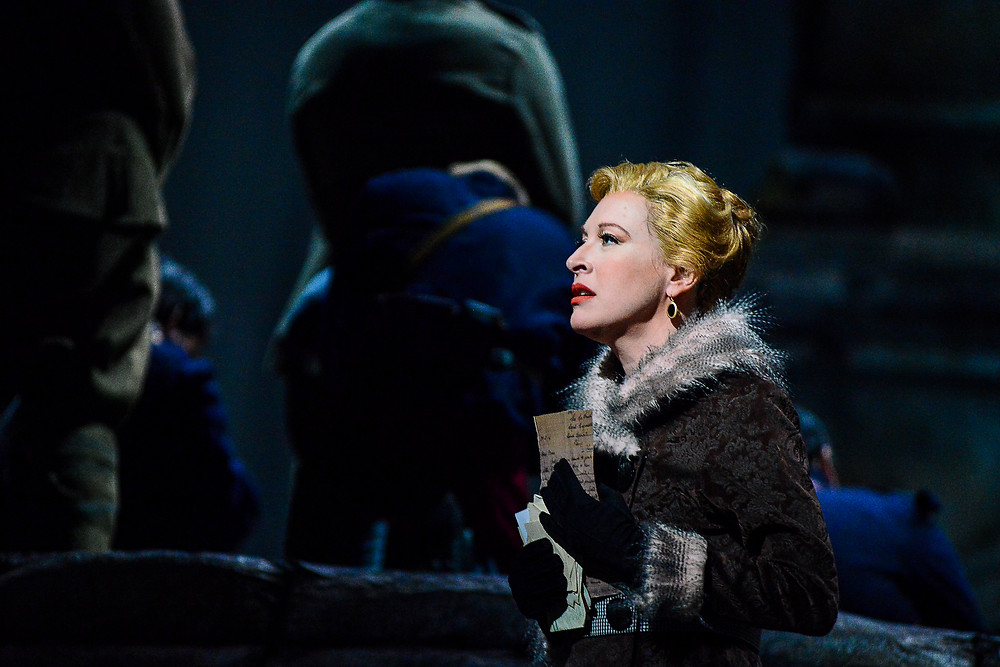 "Anna Sørenson (Ava Pine) in Fort Worth Opera's production of ""Silent Night"" 2014; photo by Karen Almond."