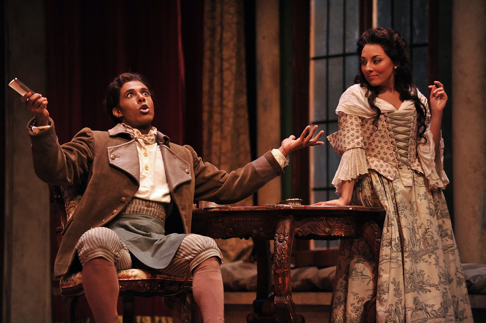 Donovan Singletary (Figaro) and Andrea Carroll (Susanna); photo by Ellen Appel