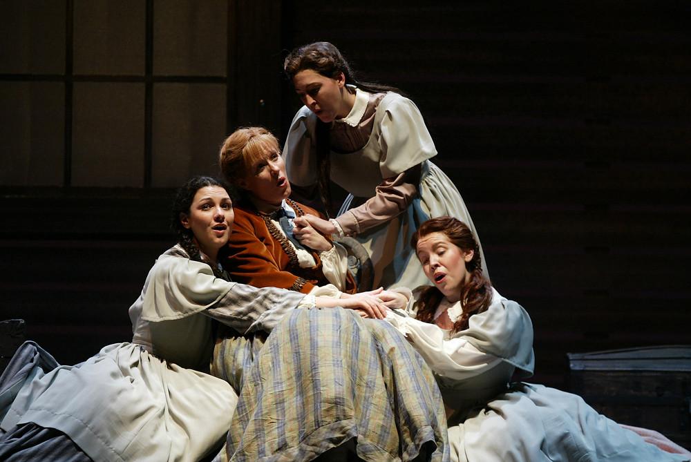 Sandra Piques Eddy, Jennifer Dudley, Tawny Seward, and Coral Owdom. Photo by Ellen Appel.