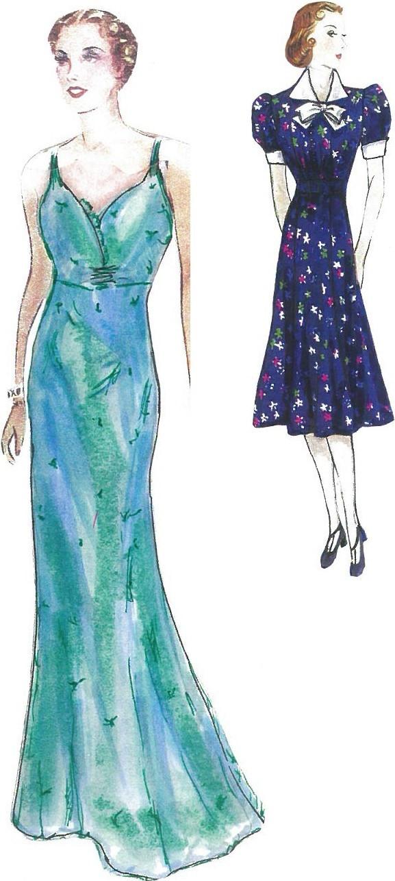 Original drawings of costume designs for 'Frau Margot' by Steven Bryant