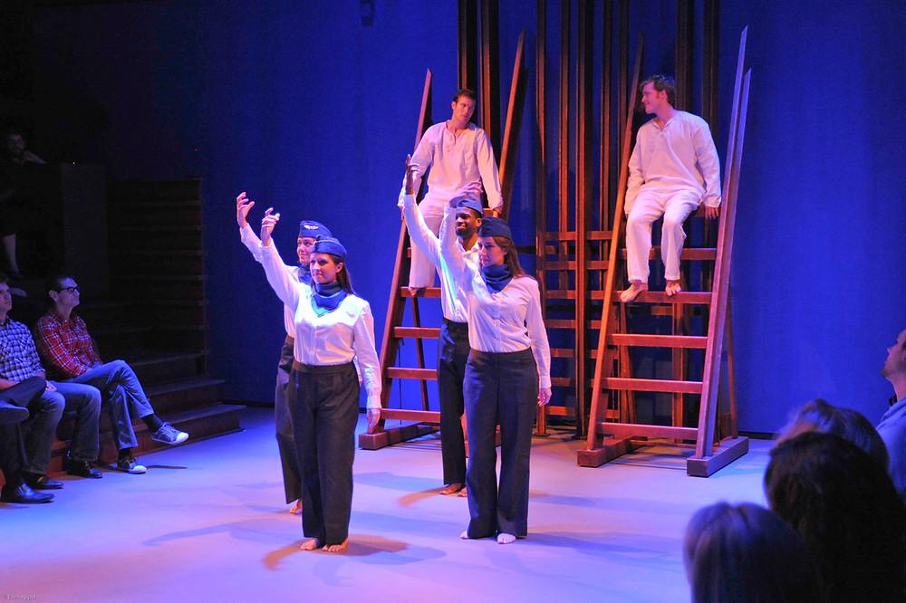 The cast of Fort Worth Opera's 'Hydrogen Jukebox'; Photo by Ellen Appel.