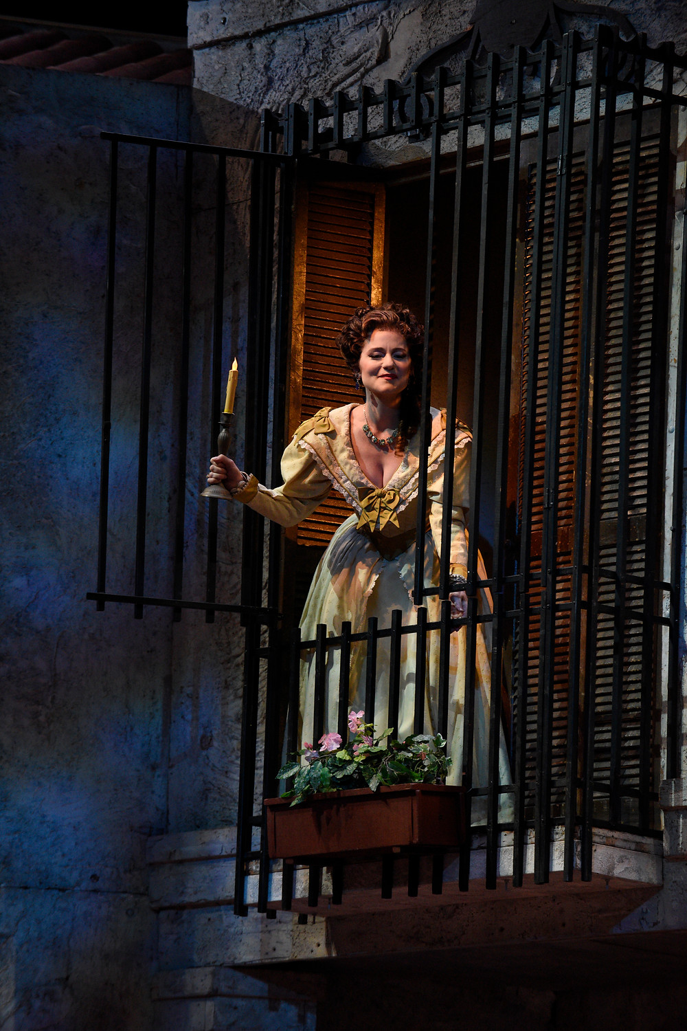 "Rosina (Megan Marino) in ""The Barber of Seville,"" Fort Worth Opera 2016; photo by Karen Almond."