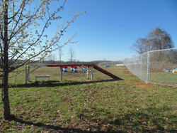 Fenced in agility course