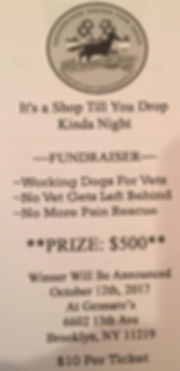 Brooklyn NY Fundraiser for Working Dogs For Vets