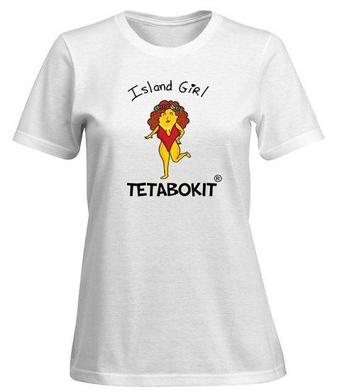 Tee-shirt femme island girl