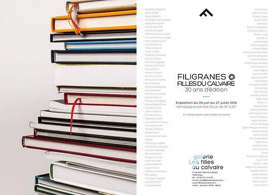 30 ans de Filiigranes na galerie les filles du Calvaire