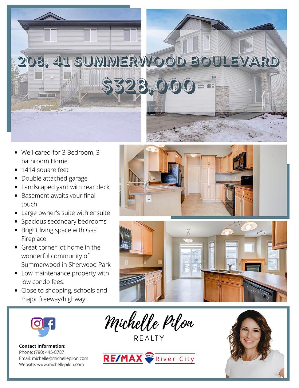 208, 41 Summerwood Boulevard Feature She