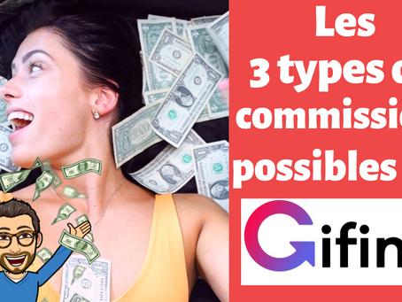 L'affiliation sur Gifing : quels sont les 3 types de commissions possibles ?