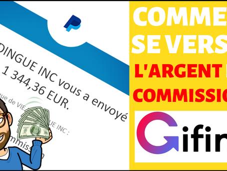 Comment se verser les commissions gagnées sur Gifing ?