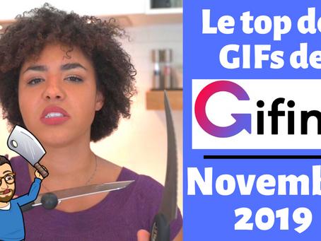 Les meilleurs GIFs animés de Gifing de novembre 2019