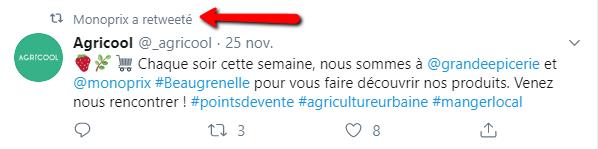 Tweet d'Agricool