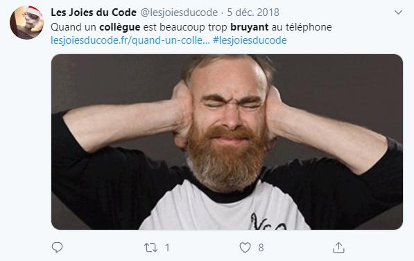 tweet les joies du code