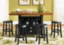 Liberty Furniture bar and bar stools