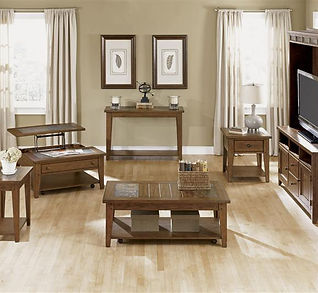 Liberty Furniture coffee tables, sofa table, and end tables